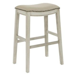 Osp Home Furnishings 30 Inch Bar Height Saddle Stools In Fabric