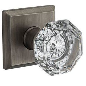 Baldwin Reserve PV.CRY.TAR Crystal Privacy Knob Set w//Traditional Arched Rosette