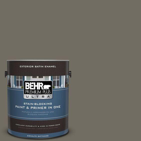 BEHR Premium Plus Ultra 1-gal. #790D-6 Dusty Mountain Satin Enamel Exterior Paint