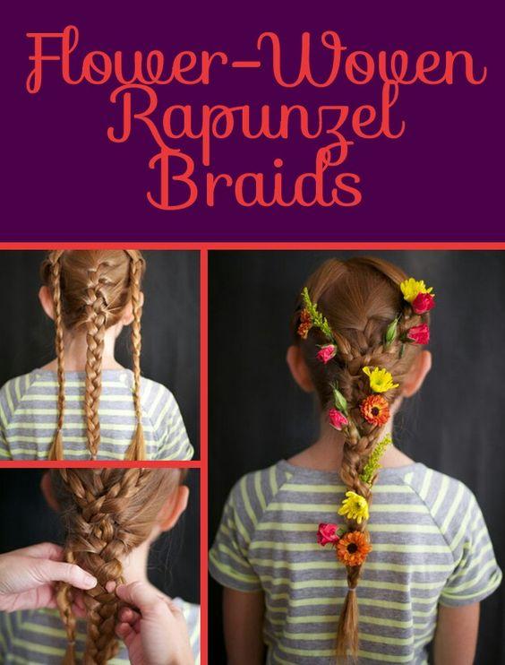 Rapunzel's woven flower braid!