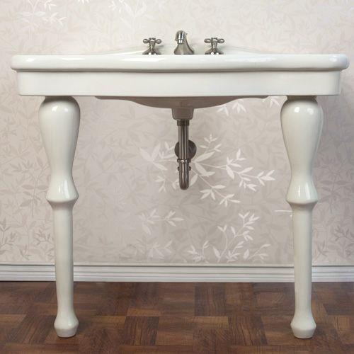 two leg pedestal sink