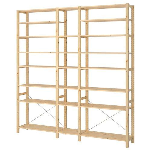 Ivar Cabinet With Doors Pine White 35x11 3 4x48 7 8 With Images Shelving Unit Ikea Shelving Unit Shelves