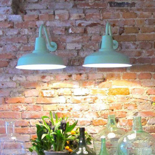 Applique murale d'extérieur en métal Barn Lamp - Vert clair
