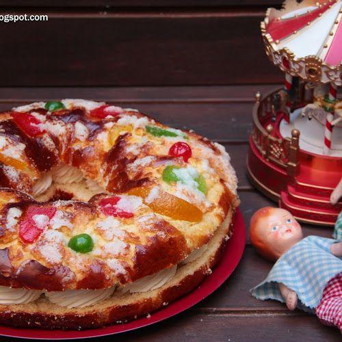 Roscón De Reyes Relleno De Nata Postres Caseros Roscón De Reyes Recetas De Comida