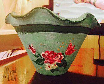 Pintura especial no vaso de flores