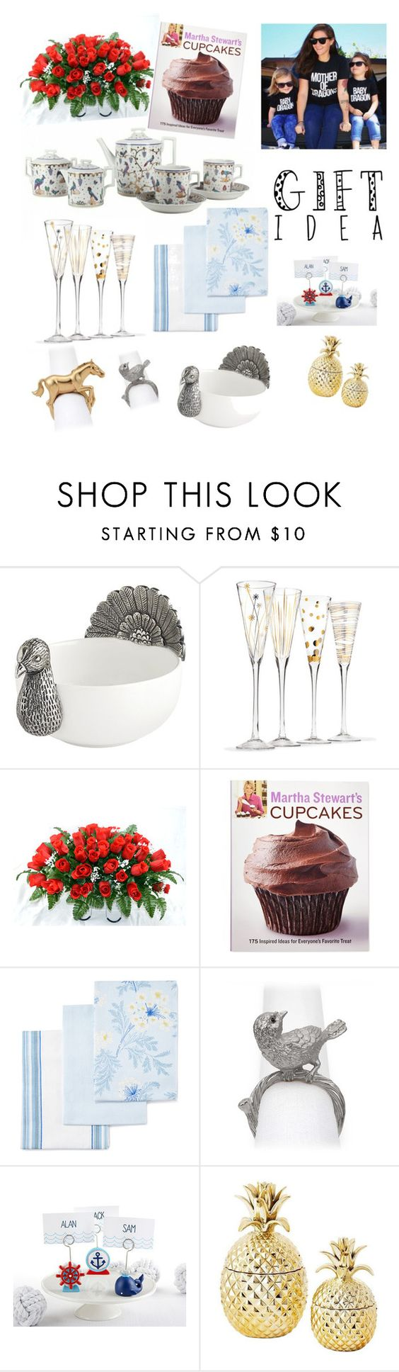 """Mother's day gift gide"" by greenshopstore ❤ liked on Polyvore featuring Pier 1 Imports, Martha Stewart, Laura Ashley, L'Objet, MothersDay, gift, gifts and mothersdaygiftguide"