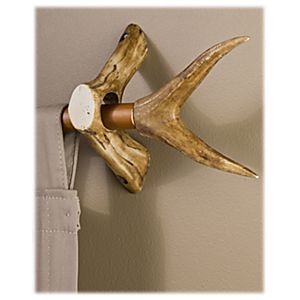 Replica Antler Curtain Rod Accessories - Forked Curtain Rod Ends | Bass Pro Shops: The Best Hunting, Fishing, Camping & Outdoor Gear