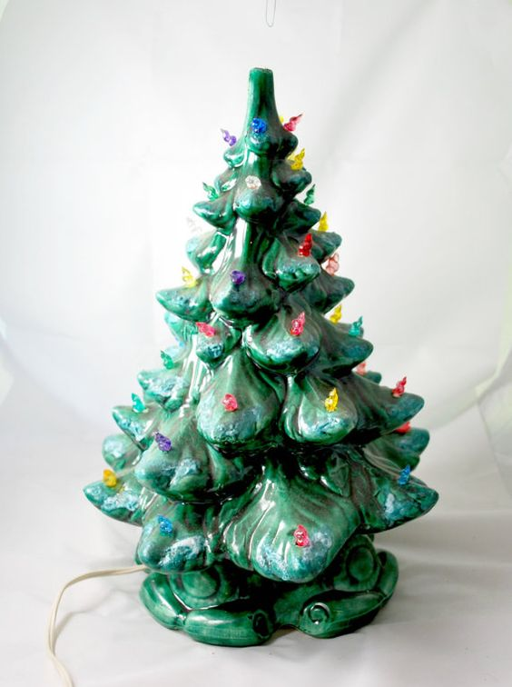 Ceramic Lighted Christmas Tree  Tabletop by Dupasseaupresent
