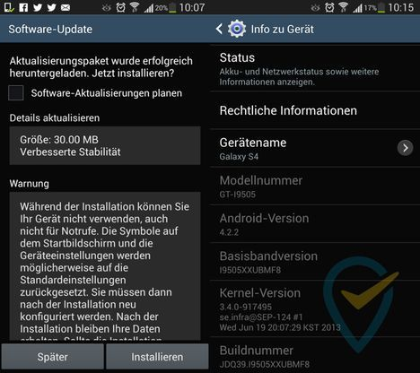 As of now, the Samsung GALAXY S4 XXUBMF8 update is available, the GALAXY S4 I9505XXUBMF8 firmware update comes via Samsung KIES or OTA to your smartphone