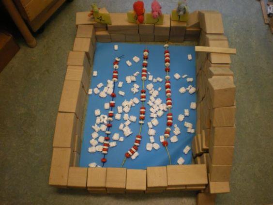 Zwembad in de bouwhoek