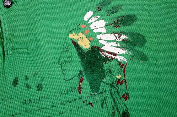 NWT Ralph Lauren Polo Green Indian Head Chief Repaired Polo Shirt SZ:3XB BIG #RALPHLAUREN #PoloRugby