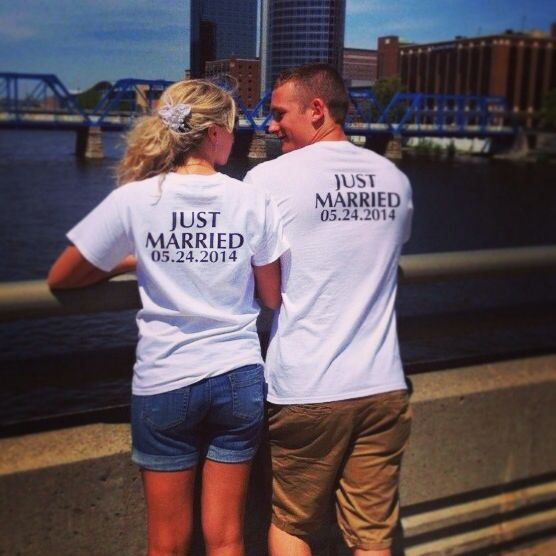 Just Married Shirts To Wear After The Wedding