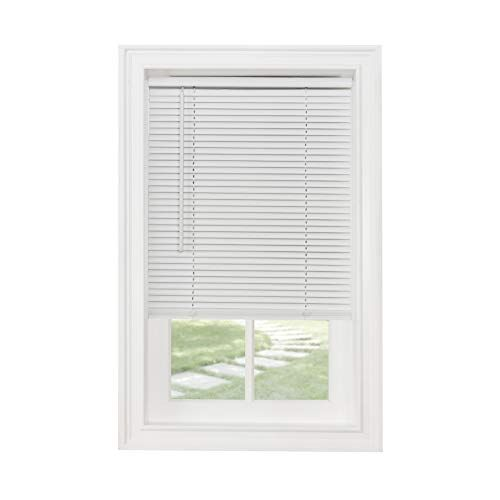 Achim Home Furnishings Corded Morningstar 1 Light Filtering Mini Blind Width 58inch Pearl White Achim Home In 2020 Horizontal Blinds Blinds For Windows Vinyl Blinds