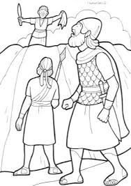 David spares saul coloring page buscar con google for Bible coloring pages king saul