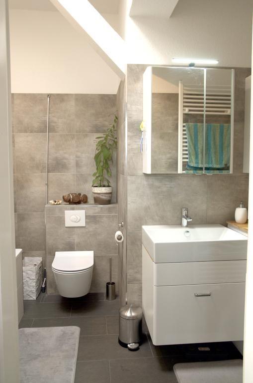 badezimmer in naturtönen mit dachschräge in berlin | schöne, Badezimmer