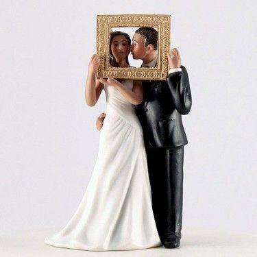 la figurine mariage tableau parfait couple brun mariage couple et parfait - Figurine Mariage Humoristique Pas Cher