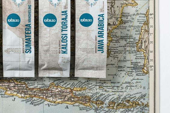 Excelso Single Origin Coffee on Packaging Design Served