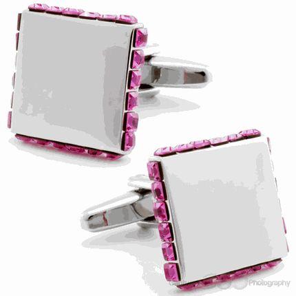 Pink Silver Box Cufflinks by Cufflinksman  #Cufflinks #Fashion #Jewelry #shopping