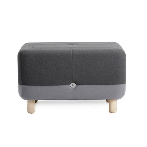Big Button Ottoman - Gray | dotandbo.com