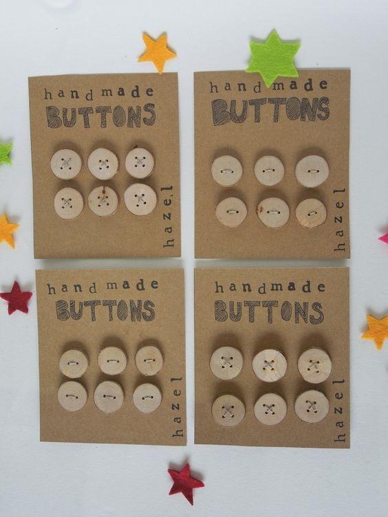 Wooden Buttons £3.50