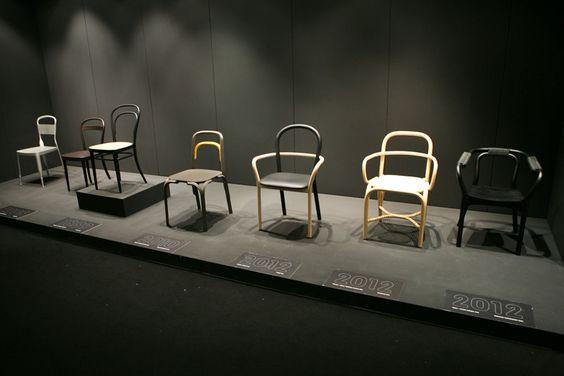 Chaise Thonet 214 de Michaël Thonet - Exposition Déjà-Vu sur la Biennale Interieur 2012 de Courtrai // © Yookô