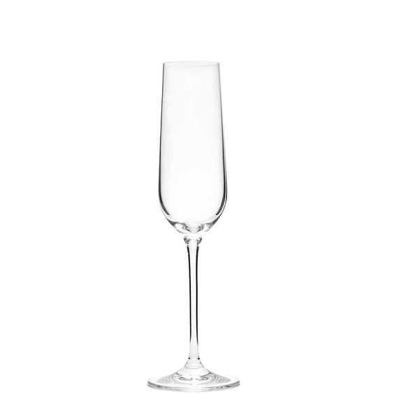 SANTÉ Champagnerflöte    Auf Ihr Wohl: Sie stoßen an mit dem edlen Santé-Glas, wahlweise als Champagnerflöte, Weißwein-, Rotwein- und Burgunderglas erhältlich, sowohl einzeln als auch im 6er Set. Die zeitlos elegante Form passt zu jeder Gelegenheit sowie auf jede Tafel - und darf anschließend in die Spülmaschine, damit Sie keine unnötige Arbeit haben. Wenn das nicht noch ein Grund zum Feiern is...