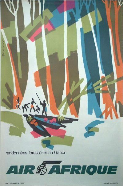 Poster: Air Afrique - Gabon Artist: Dessirier 1960: