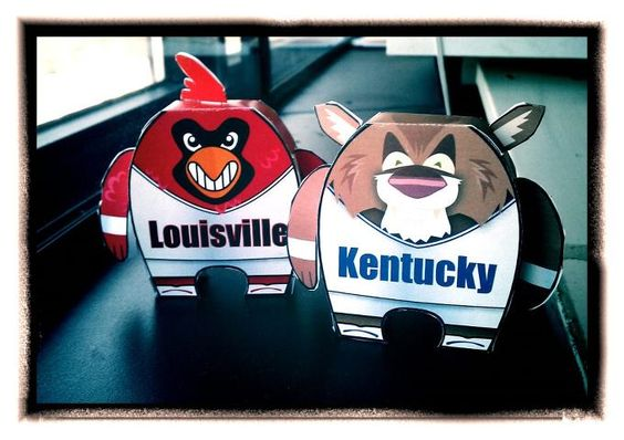 Check out the craft paper toy Wildcat and Cardinal by Herald-Leader artist Chris Ware. You can download and make your own by clicking here: http://bit.ly/H1ed9n