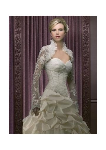Lace Embroidery Long Slim Sleeves UK Wedding Jacket