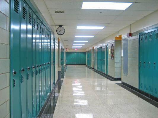 Walking Down A High School Hallway School Hallways