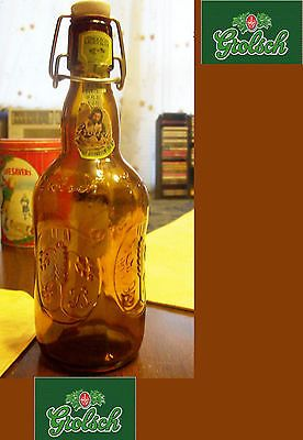 """Grolsch beer 9"""" brown #glass bottle w/ porcelain cap - #vintage - #collectors,  View more on the LINK: http://www.zeppy.io/product/gb/2/141920906236/"""