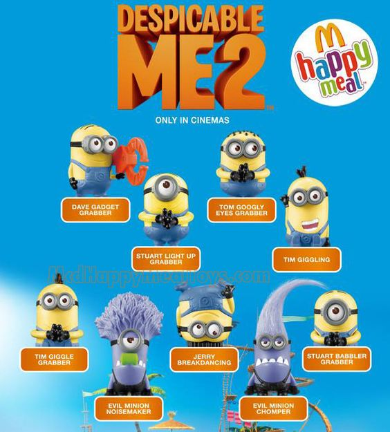 despicable me 2 happy meal toys photos | McDonald's Happy Meal Toys : Despicable Me 2