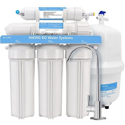 Hikins Reverse Osmosis Water Filtration System Ro 125g 5 Stage Home Drinking Ro Reverse Osmosis Water Water Filters System Reverse Osmosis Water System