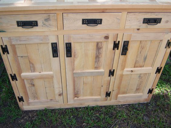 Rough cut cypress cabinet | Rustic Reclaimed cypress wood ...