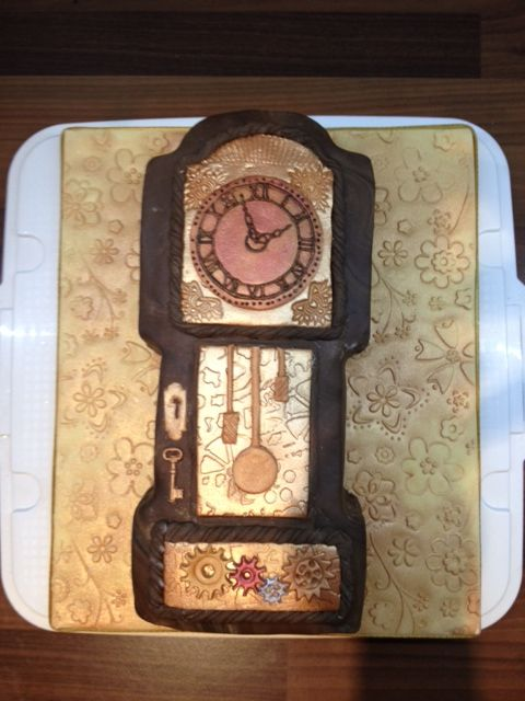 My grandfather clock cake: Cakes Cupcakes, Cupcakes Cookies, Bday Cakes, Clock Cakes, Birthday Cake, Grandfather Clocks