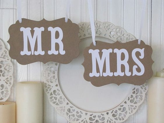 MR and MRS Wedding Signs for Wedding Photos, Receptions, Chair Backers, Wedding Thank You Photos on Etsy, $12.80 AUD