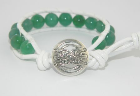And our winner is....Shy Burgess! Congratulations, your bracelet is on its way. We'd love to see a picture of you wearing it on St Patrick's Day! For all you dainty wristers who'd like this beautiful hand made bracelet too, you may order it for only $18.00! http://www.daintywristjewelry.com/White-Wrapped-Gr…/0046.htm