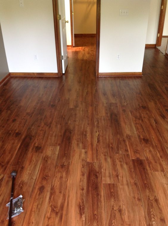 Vinyl planks with a wood plank look this could be our new for Vinyl flooring that looks like wood planks