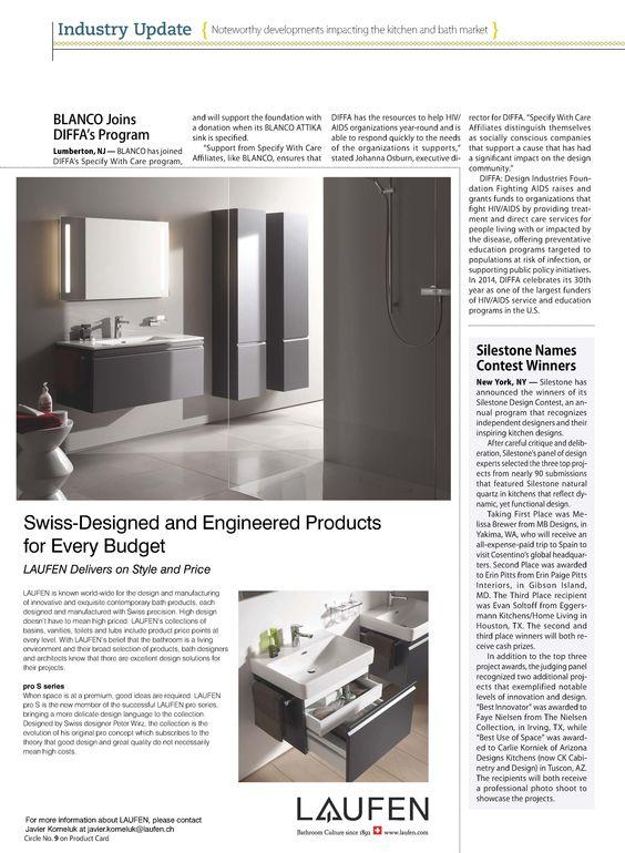 kbdn (kitchen & bath design news) featured an announcement of the