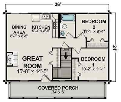 Pin By April Behnke On Floor Plans Small Cottage Plans Garage House Plans Cabin Floor Plans