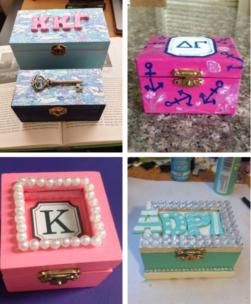 ❉ cute & crafty: how to paint a wooden badge box! ❉   sorority sugar