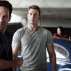 Bucky in the background. Omg they turn to look at each other at the exact same time!