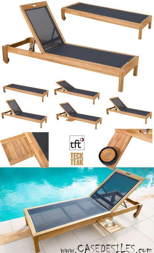 Bain De Soleil Teck Design A Prix Imbattable Transat Teck Toile Empilable Articule Design 9005 Bain De Soleil Transat Mobilier Jardin