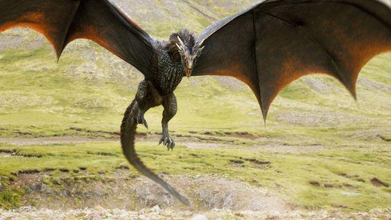 Game Of Thrones - TV Série - books (livros) - A Song of Ice and Fire (As Crônicas de Gelo e Fogo) - dragon (dragão) - Drogon - fly - voar