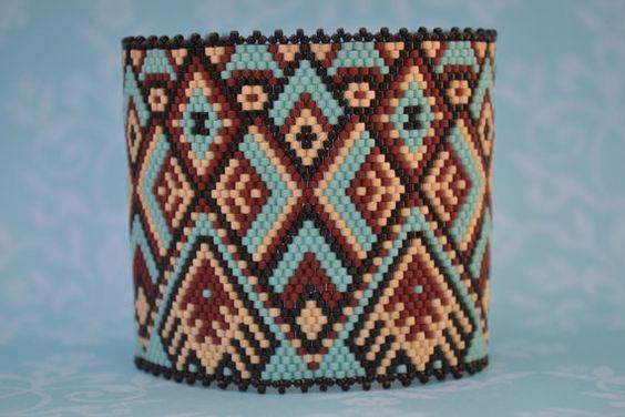 Peyote Bracelet Peyote Cuff Bracelet Cuff Seed by corporateschmad