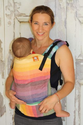 (Standard Size) Full Wrap Conversion Tula Baby Carrier - Girasol Deag Beige Weft