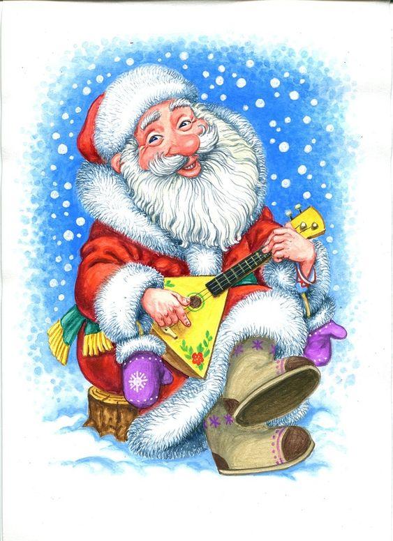Дед мороз новогодние картинки, картинки новый год