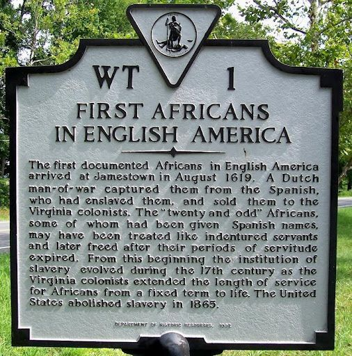 """August 1, 1619, The History of Black America began with landing of twenty Blacks at Jamestown, Virginia. John Rolfe said the ship arrived """"about the latter end of August"""" and that it """"brought not anything but 20 and odd Negroes."""" Surviving evidence suggests that the twenty Blacks were accorded the status of indentured servants"""