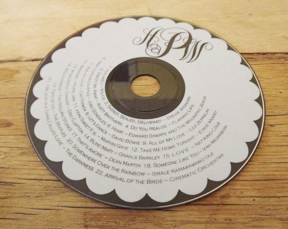 Custom CD/DVD Label TEMPLATE for Printing on your own - Wedding Favors - Photography Portfolios on Etsy, $25.00