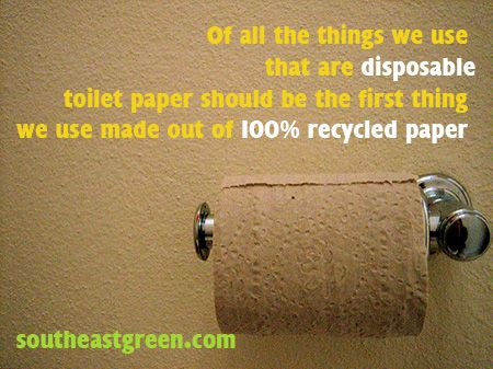It used to be that many of us did not have the choice to use 100% recycled toilet paper. Kroger (and Publix has had it for awhile and of course 7th Generation but harder to find) now carries it in their Simple Truth product line. Out of all the things we use daily that are disposable, can you think of anything that doesn't make more sense to be a 100% recycled product? Add to the fact that Americans use more toilet paper annually than any other country on earth.